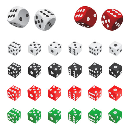 collection of dice  (four color)
