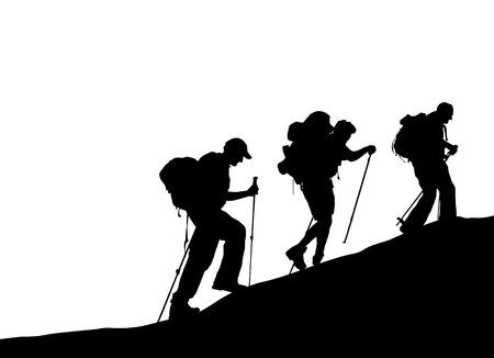Illustration pour mountain climber  - image libre de droit