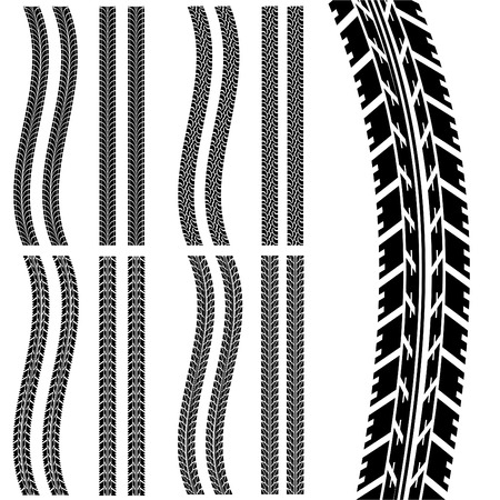 set of car tyre
