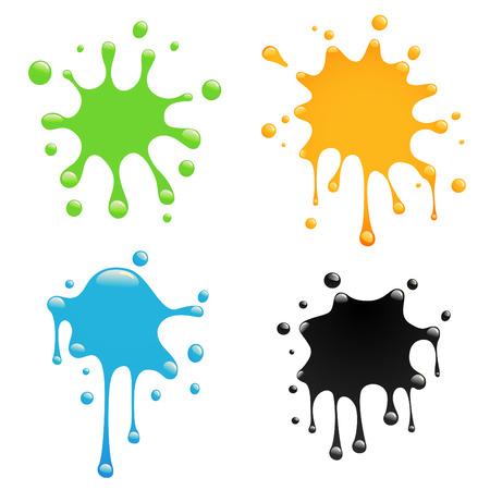 colorful splash set