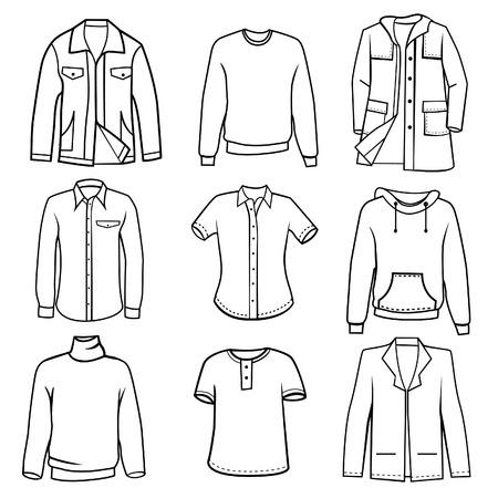 men s clothes set vector