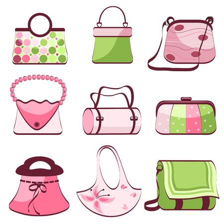 Illustration pour set woman's bags vector  - image libre de droit