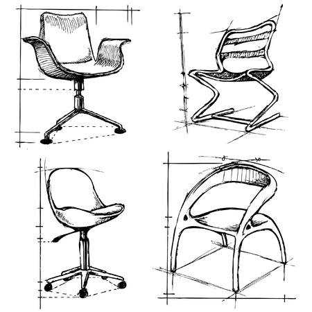 chairs drawings