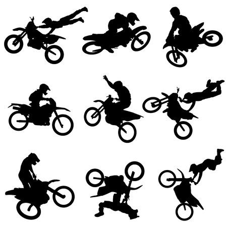 Illustration pour motorcycle set  - image libre de droit