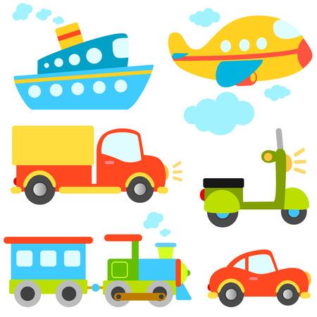 Foto de cartoon vehicles vector  - Imagen libre de derechos