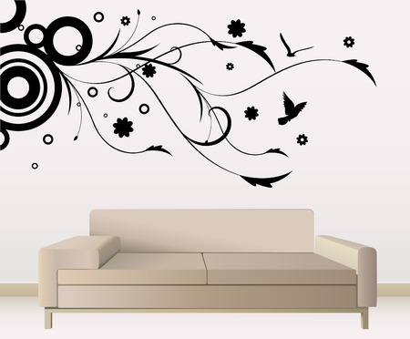 Illustration for wall decoration  - Royalty Free Image