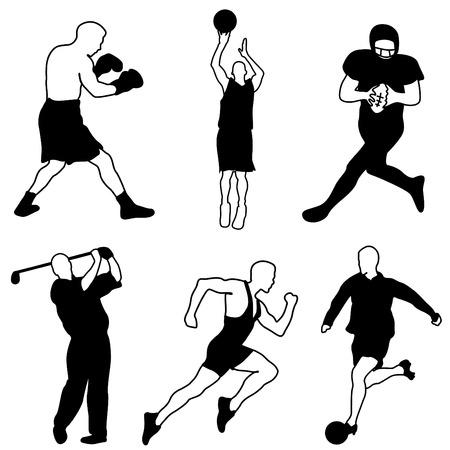 Ilustración de sport icon set - Imagen libre de derechos