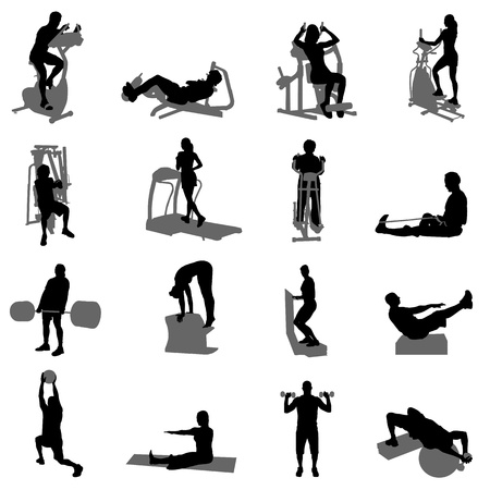 Photo for fitness vector  - Royalty Free Image