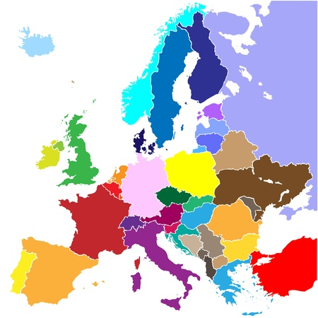 europe map (country border)