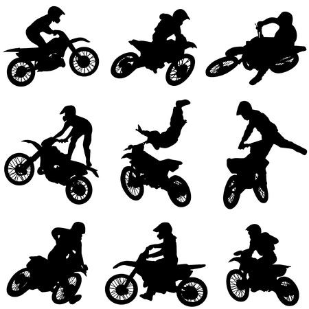 Illustration pour set of motorcycle  - image libre de droit