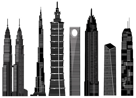 skyscraper buildings vector