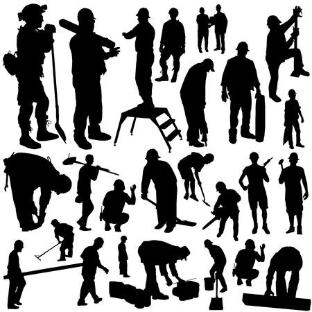 construction workers vector