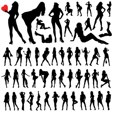 collection of sexy woman vector