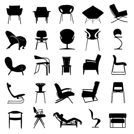 modern chair vector