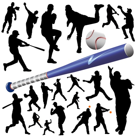 collection of baseball vector