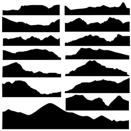 Illustration pour mountain set vector  - image libre de droit