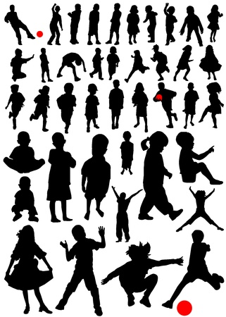 collection of kids vector