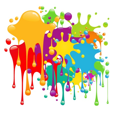 Illustration for Color paint splashes  - Royalty Free Image
