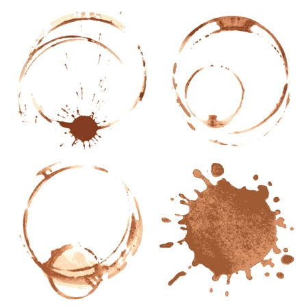 Illustration for coffee stains - Royalty Free Image