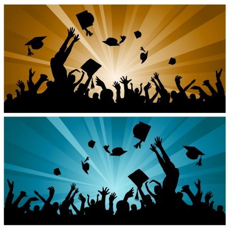Illustration pour graduation party  - image libre de droit