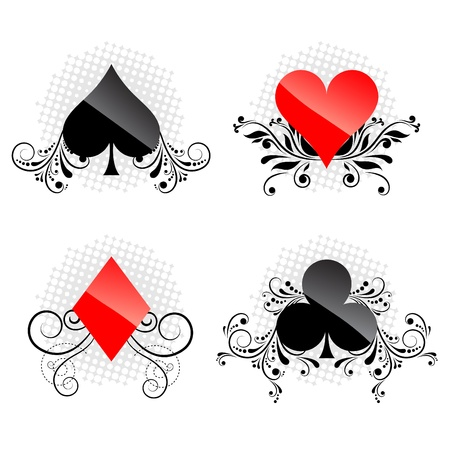 decorative card symbols