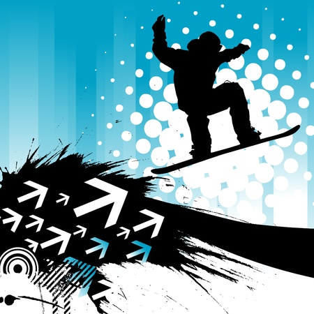 snowboarding background