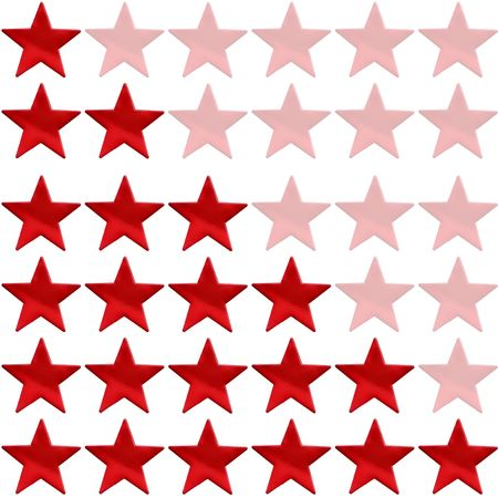 star rating from one to six on a white background