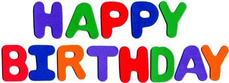 foam letters displaying happy birthday