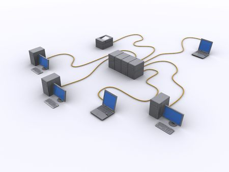 a picture of a wired network diagram