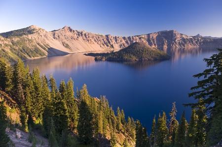 Sunrise at Crater Lake Volcano in Oregon