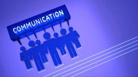 Conceptual 3D communication theme