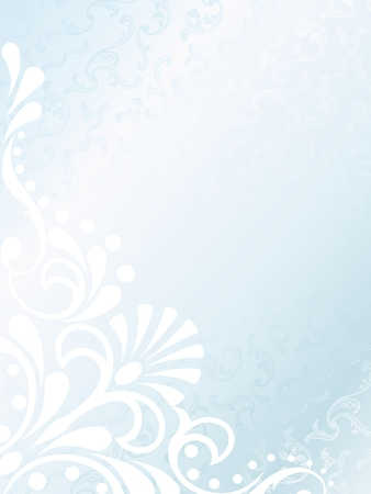 Vertical elegant white Victorian background, prefect for wedding designs. Graphics are grouped and in several layers for easy editing. The file can be scaled to any size.