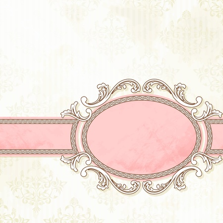Illustration pour Grungy, intricate  pink and white banner design. Graphics are grouped and in several layers for easy editing. The file can be scaled to any size. - image libre de droit