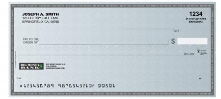 Illustration pour A realistic representation of a blank check  - image libre de droit