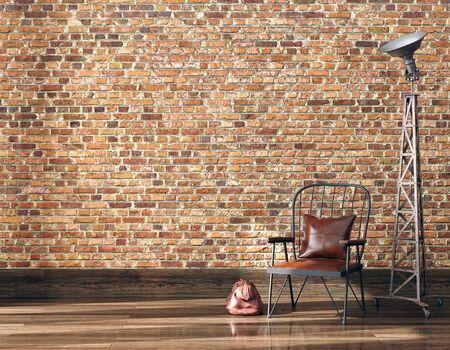 Photo pour Minimalist industrial interior background, 3d render - image libre de droit