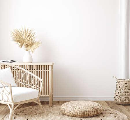 Photo pour Home interior background, room with minimal decor, 3d render - image libre de droit