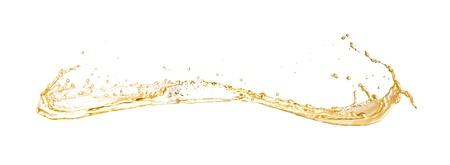 Champagne wine splash, isolated on white background