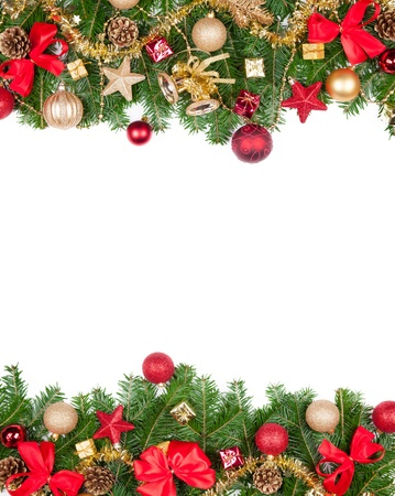 Christmas frame with free space for textの写真素材