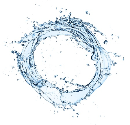 Water circle isolated on white background