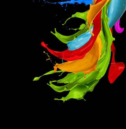 Photo pour abstract color splash isolated on black background - image libre de droit