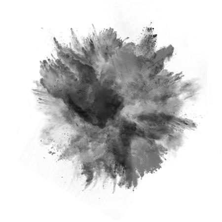 Photo for Explosion of black powder, isolated on white background - Royalty Free Image