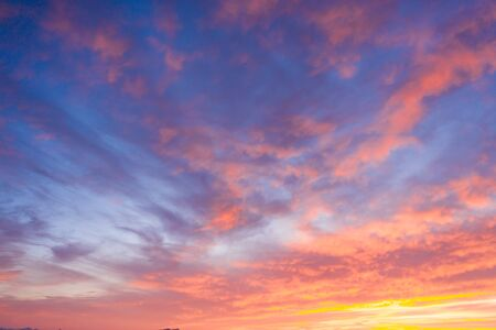Photo pour Beautiful sunset clouds in pink colors. Abstract nature background - image libre de droit