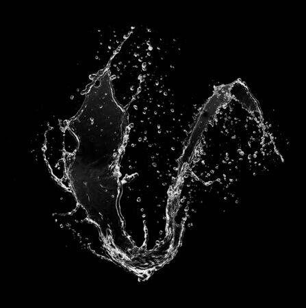 Photo pour Water splash isolated on black - image libre de droit