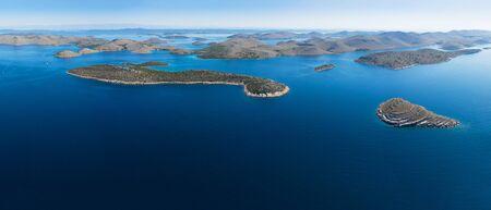 Foto de Aerial panoramic view of Kornati national park, Croatia - Imagen libre de derechos