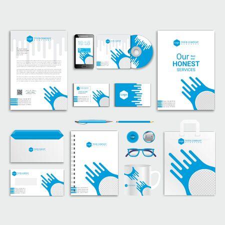 Illustration pour Corporate Identity Template, Business Stationery Design - image libre de droit