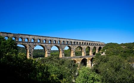 Pont du Gard - Roman aqueduct in southern France near Nimes