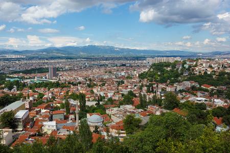 Photo pour Panoramic view of Bursa city - image libre de droit