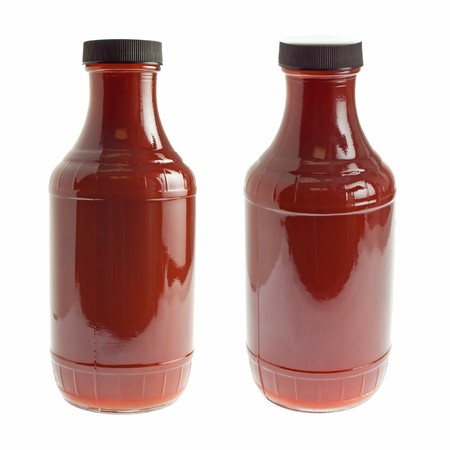Generic bottle of ketchup / barbecue sauce - two angles