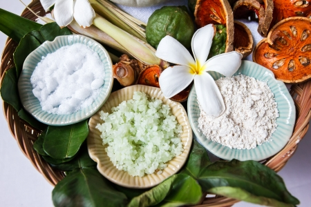 spa ingredients with herbs