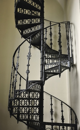Iron work circular stair